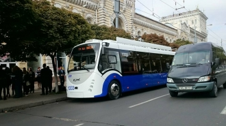 В новых кишиневских троллейбусах появился Wi-Fi, но пропал свет