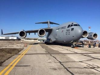 В Молдове приземлился американский военный самолет