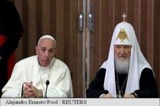 Întîlnire istorică dintre Patriarhul Kiril și Papa de la Roma