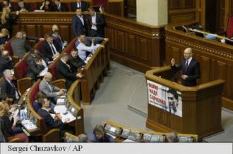 Guvernul Iațeniuk supraviețuiește unei moțiuni de cenzură