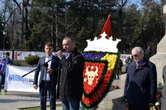 Dodon către unioniști: Acest pămînt va rămîne moldovenesc, cu limba moldovenească și istoria Moldovei!
