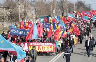 В Комрате прошел марш защитников молдавской государственности
