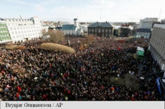 Islanda: Proteste de amploare la Reykjavik după dezvăluirea scandalului